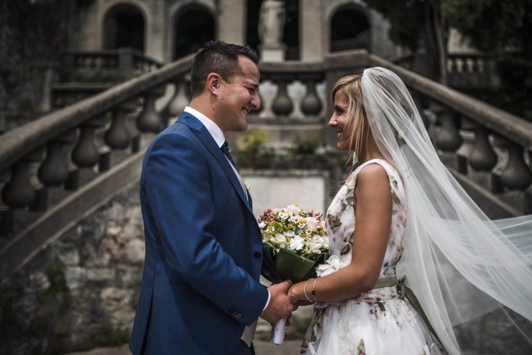 Matrimonio a Castelletto (TV) e Servizio di coppia in Borgo a Serravalle – Elena e Mattia