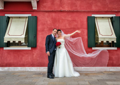 Fotografo Matrimonio isola di Burano
