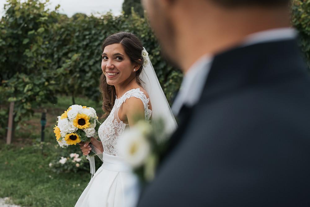 Servizio fotografico di matrimonio presso il ristorante Le Calandrine, Treviso. Camilla & Elia sposi. Michelino Studio fotografi di matrimonio professionisti a Treviso. 022