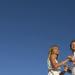 Servizio fotografico prematrimoniale o engagement shooting. Coppia di sposi con cielo di sfondo. Il Blog di Michelino Studio, Fotografo di matrimonio Veneto.