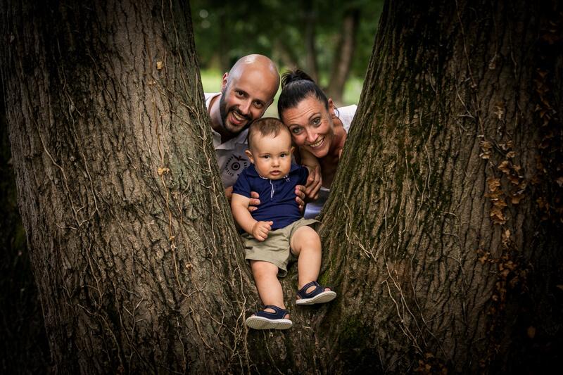 Servizio Fotografico di Famiglia in Veneto. Ecco Alessandra e Stefano. Michelino Studio, fotografo professionista per famiglie, neonati e bambini in Veneto.