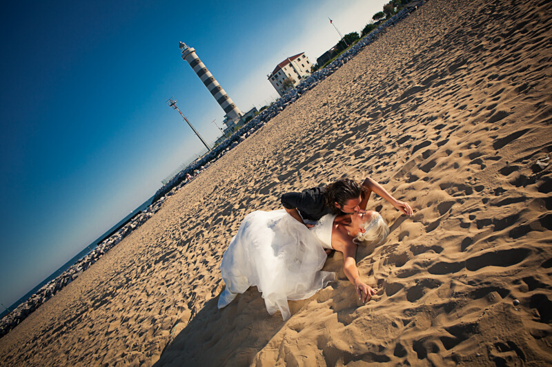Servizio fotografico di matrimonio e Trash The dress a Jesolo. Michelino Studio, fotografo di matrimonio professionista in Veneto.
