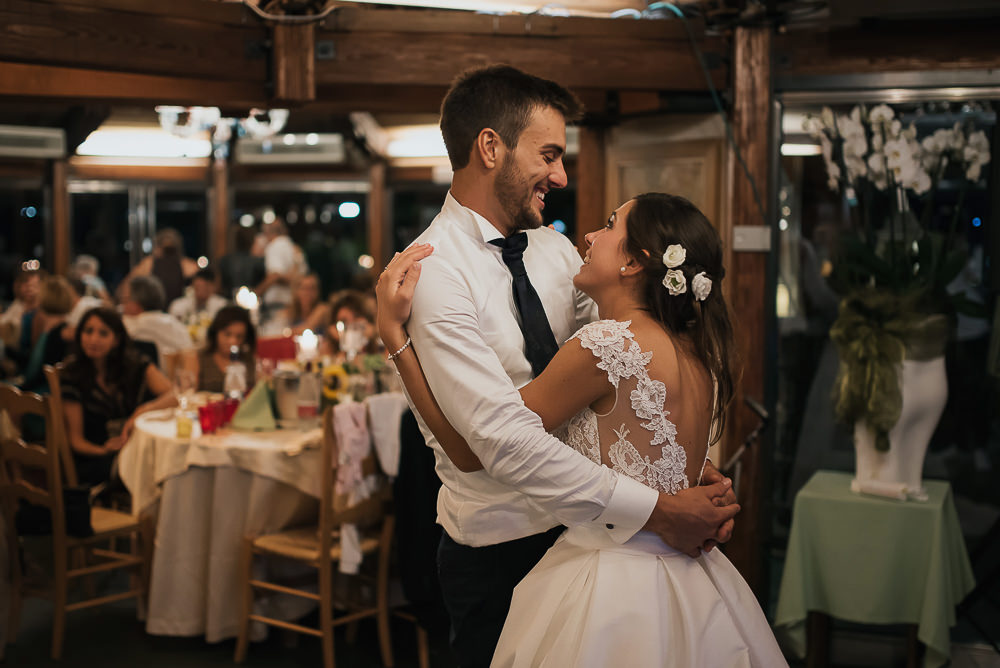 Servizio fotografico di matrimonio presso il ristorante Le Calandrine, Treviso. Camilla & Elia sposi. Michelino Studio fotografi di matrimonio professionisti a Treviso. 026